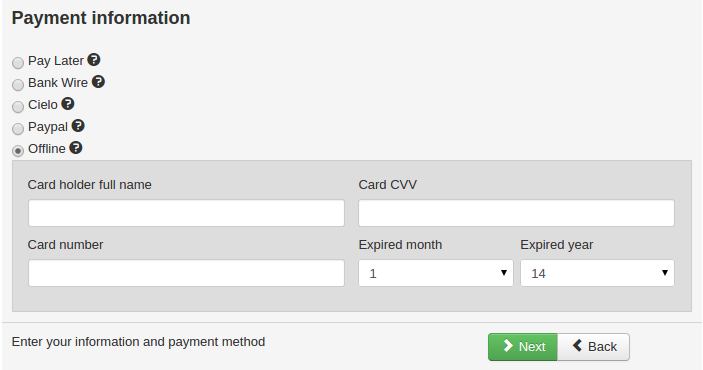 Offline credit card payment plugin preview
