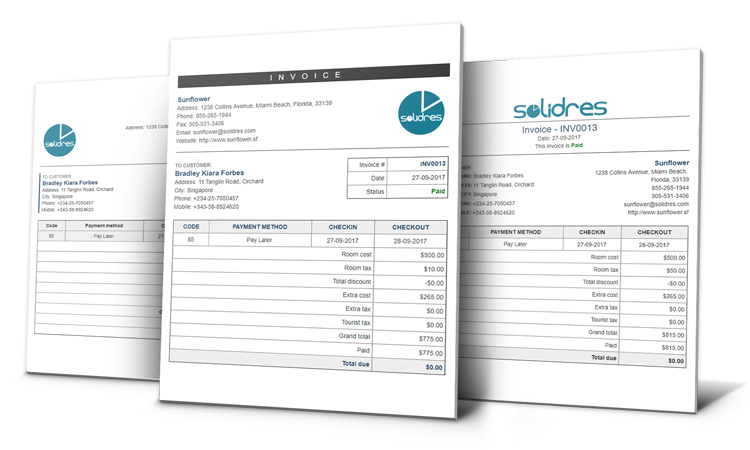 New invoice layouts