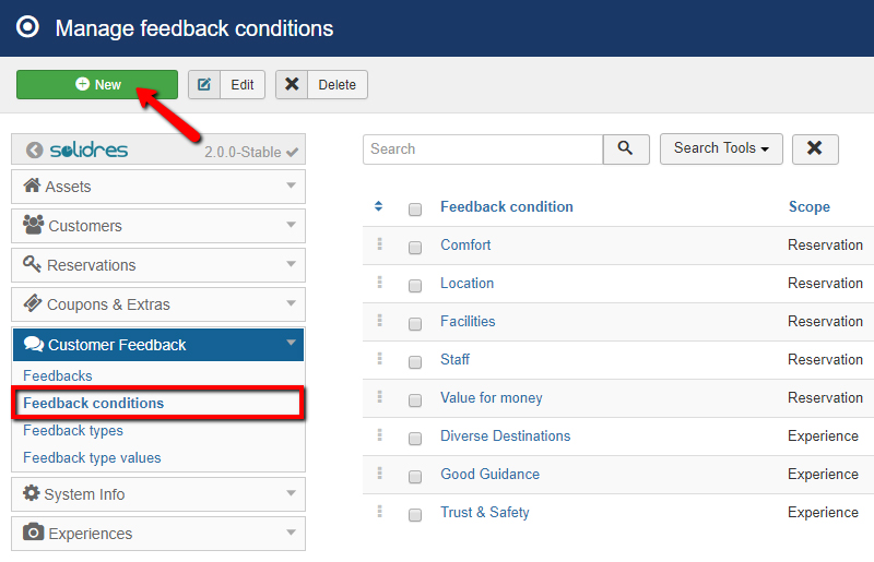 How to configure Feedback