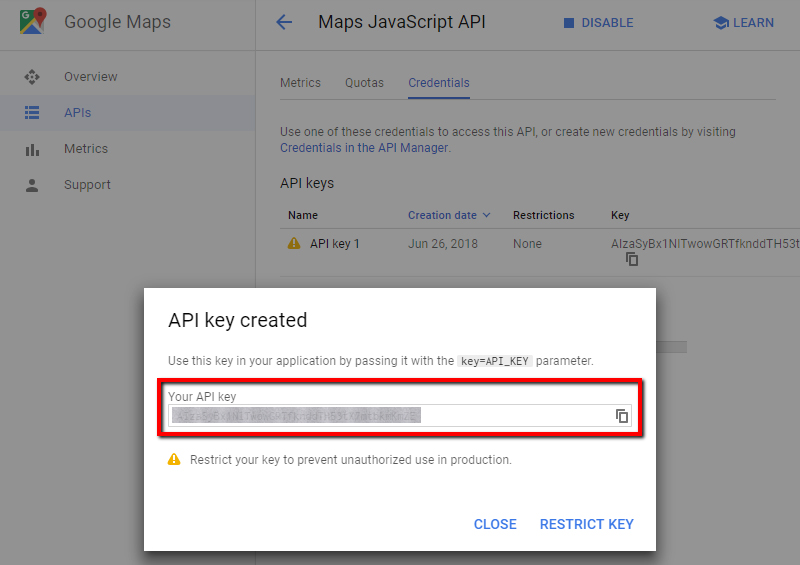 How to generate Google Maps API Key