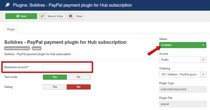 How to configure subscription and commission in Hub plugin