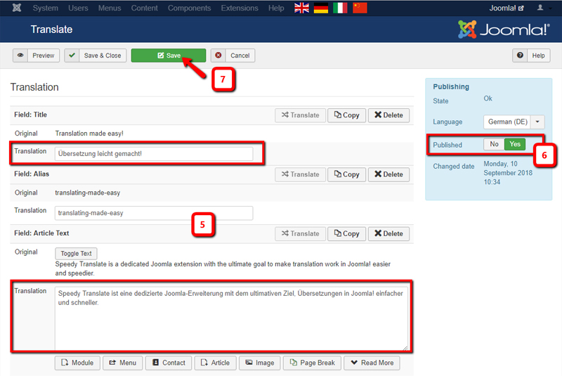 Joomla multilingual management: Speedy Translate vs Falang
